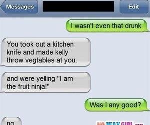funny, text, and fruit ninja image