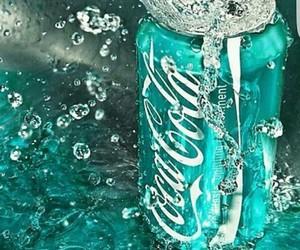 coca cola, purple, and water image