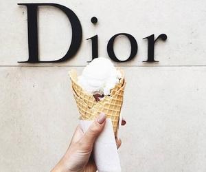 dior, ice cream, and food image