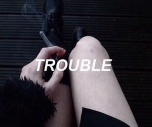 trouble, black, and grunge image