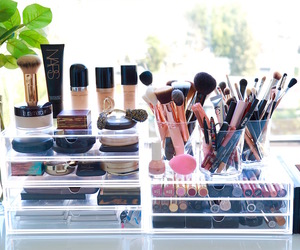 makeup, brush, and beauty image