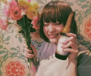 bob, flower, and girl image