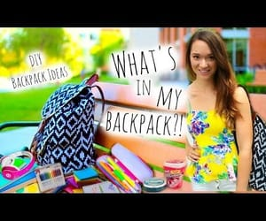 video, what's in my backpack, and back to school image