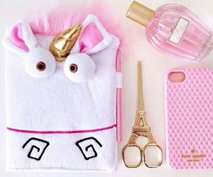 paris, pink, and unicorn image