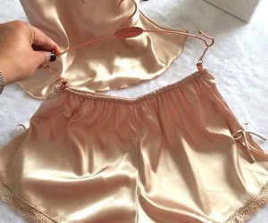 beige, shorts, and silk image