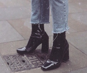 ankle boots, cutoff, and style image