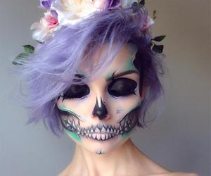 Halloween, makeup, and skull image