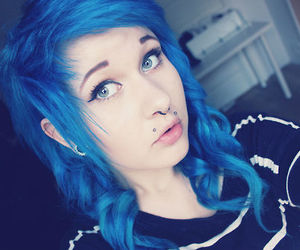 blue hair, photography, and girl image
