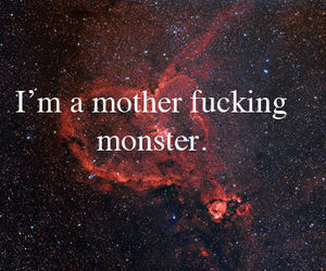 monster and text image