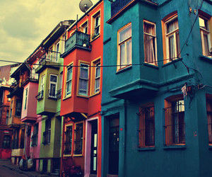 house, colors, and street image