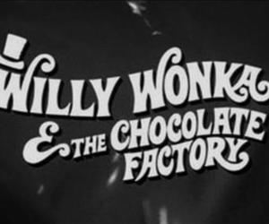 Willy Wonka, chocolate, and movie image