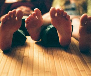 couple, feet, and love image