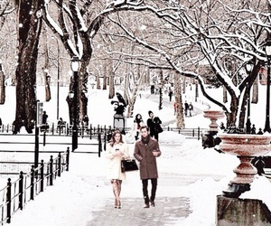 winter, snow, and gossip girl image