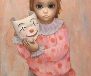 big eyes, Margaret Keane, and mask image