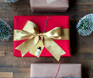 christmas, gold, and presents image
