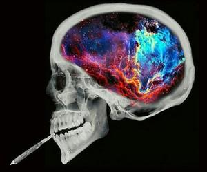 brain, Dream, and galaxy image
