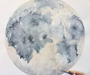 moon, art, and cool image