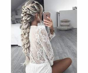 girl, tumblr, and braid image