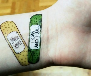 band aid, health, and motivating image