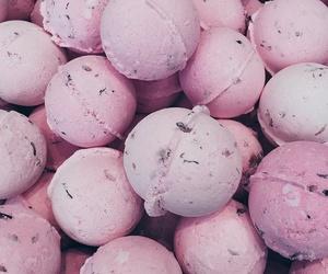 pink, lush, and bath bombs image
