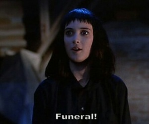 beetlejuice, funeral, and winona ryder image