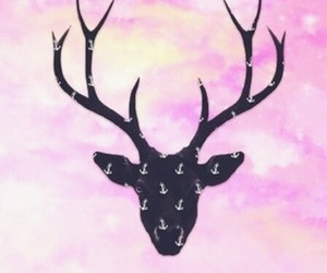 pink, hipster, and deer image