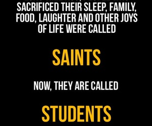 student, funny, and saint image