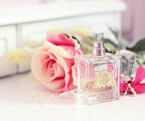 pink, rose, and perfume image