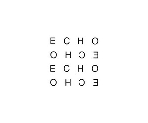 echo, minimalism, and quote image