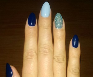 blue, nail art, and glamour image