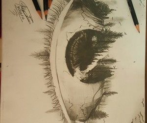 dibujos, drawings, and eyes image