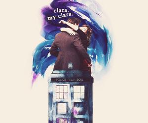 doctor who, clara oswald, and tardis image