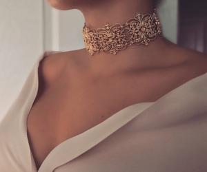 choker, gold, and elegant image