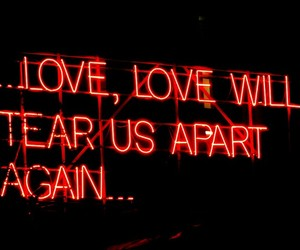 love, joy division, and neon image