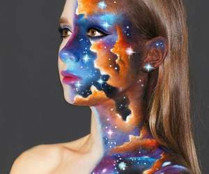 art, galaxy, and blonde image