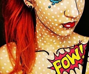 Halloween, makeup, and comic image