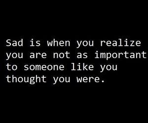 sad, quotes, and black image