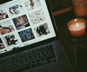 candle, iphone, and macbook image