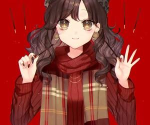 anime, anime girl, and pocky image