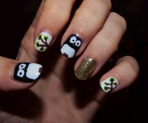 nail art, flakes, and paillettes image