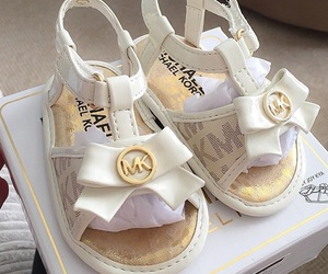 baby, mk, and shoes image