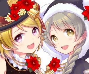 anime girl, beautiful, and christmas image