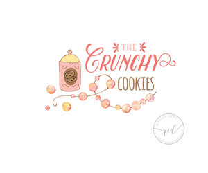 etsy, food blog, and premade logo image