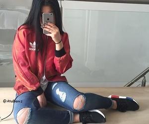 adidas, hair, and nails image