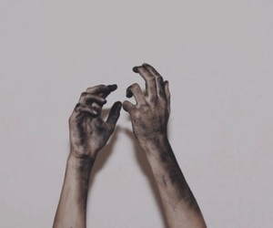 hands, dirty, and hand image