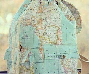 world, map, and bag image