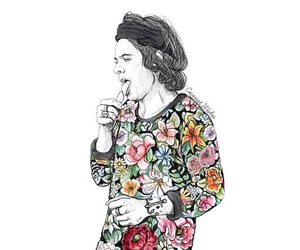 art, flowers harrystyles, and fandom picture cool image