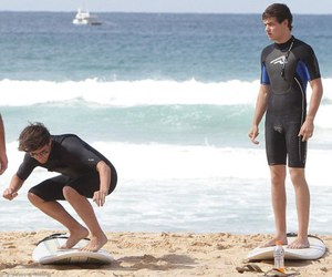 lilo, cute, and surfing image