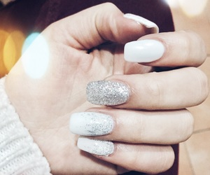 gel, glitters, and nails image