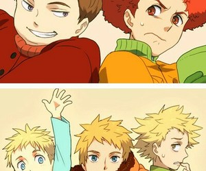 butters, yaoi, and South park image